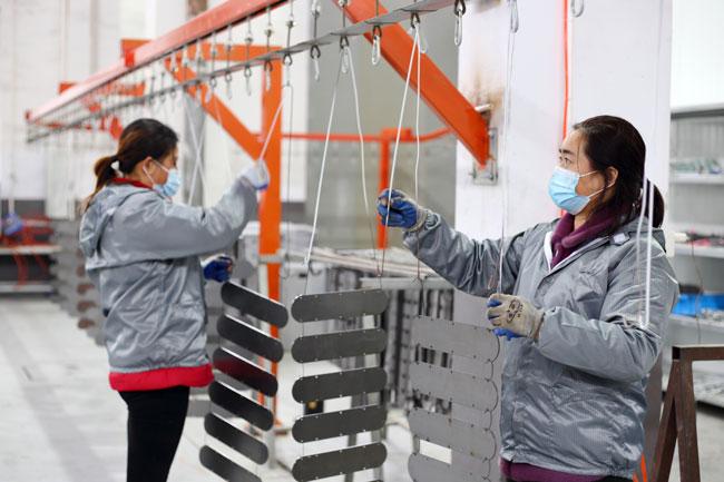 静电喷塑工艺在石材机械中的应用